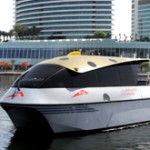 NEW SERVICE: One of the five water taxi boats which will be put into action on Wednesday. (Supplied)