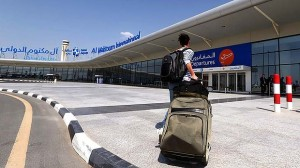 A passanger arrives at the newly opened Al-Maktoum International airport in Dubai, which will be the world's largest once it is completed. Photo: AFP  Read more: http://www.smh.com.au/travel/travel-news/dubai-opens-worlds-largest-airport-20131028-2wan9.html#ixzz2izcwwvS7